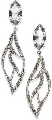 Danori Silver-Tone Marquise Crystal Drop Earrings, Created for Macy's