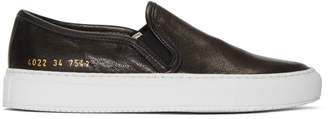 Common Projects Woman by SSENSE Exclusive Black Tournament Slip-On Sneakers