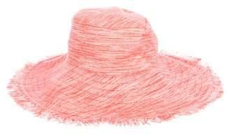 Trina Turk Linen-Blend Fringe Hat w/ Tags