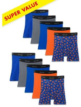 Fruit of the Loom Assorted Sport Style Boxer Briefs, Super Value 10 Pack (Little Boys & Big Boys)