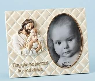 "Roman Joseph's Studio 7""h ""Wrapped in HIS Love"" Jesus with Baby 4x6 Picture Frame"