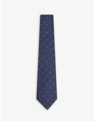 Bigi Cravatte Floral print silk-blend tie