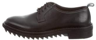 Lanvin Round-Toe Leather Derby Shoes
