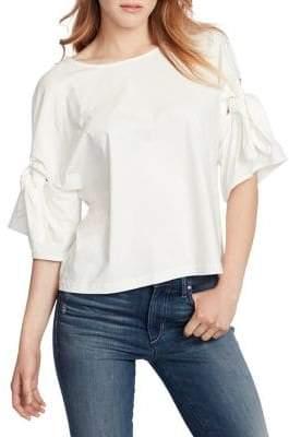 Ella Moss Erica Bell-Sleeve Cotton Blouse