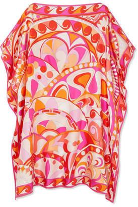 Emilio Pucci Nigeria Printed Silk-satin Twill Kaftan - Pink