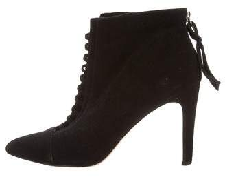 Cynthia Vincent Cutout Ankle Boots