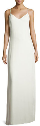 Elizabeth and James Sleeveless Velvet Slip Gown, Ivory $395 thestylecure.com