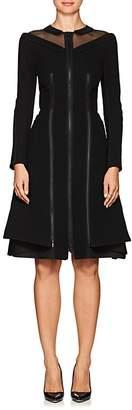 Thom Browne WOMEN'S ZIPPER-DETAILED TEXTURED WOOL DRESS