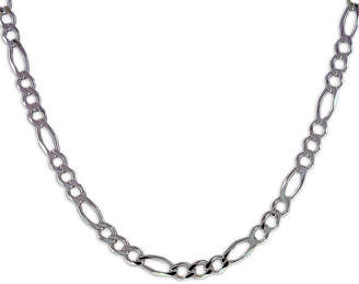 FINE JEWELRY Mens 20 Sterling Silver Figaro Chain Necklace