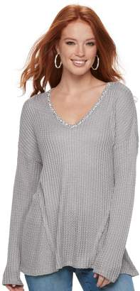 Juicy Couture Women's Embellished V-Neck Sweater