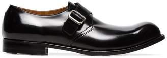 Comme des Garcons monk strap leather shoes