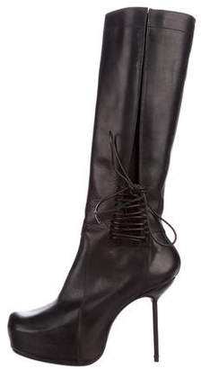 Rick Owens Platform Knee-High Boots