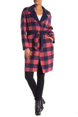 Rag & Bone Waist Tie Plaid Coat