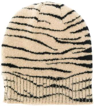 Ssheena knitted patterned beanie