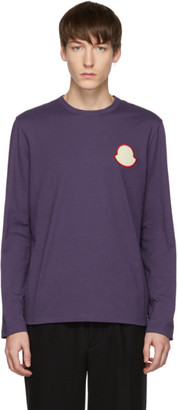 Moncler Purple Maglia Bell Long Sleeve T-Shirt