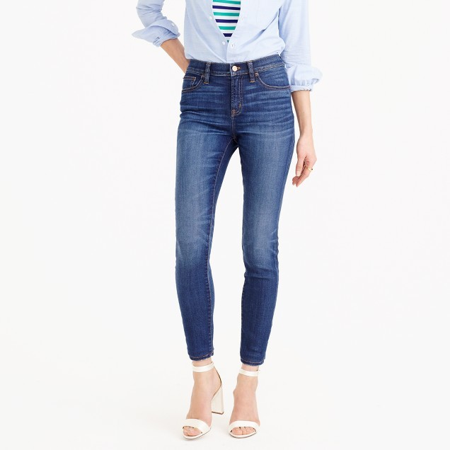 "J.Crew Petite 9"" lookout high-rise jean in Meyer wash"