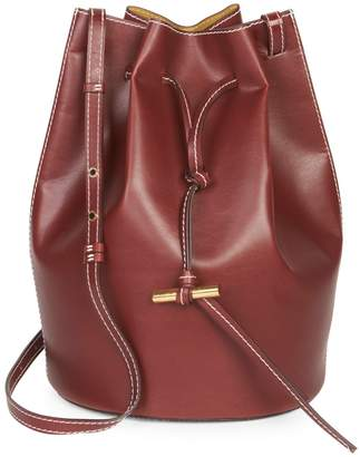 Stella McCartney Vegan Leather Medium Belted Bucket Bag
