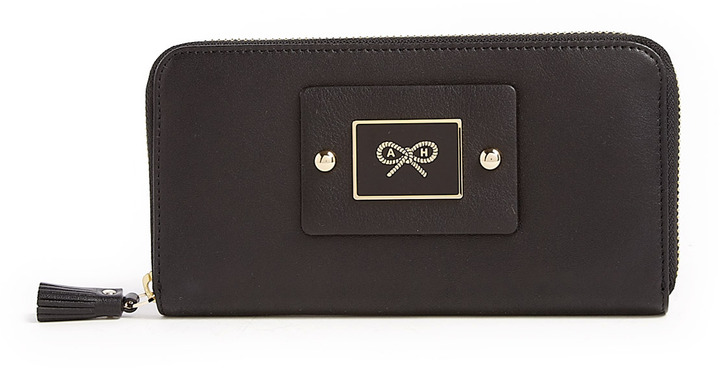 Anya Hindmarch Faithful Large Zip Round Leather Wallet