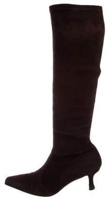 Stuart Weitzman Suede Mid-Calf Boots