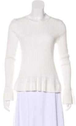 Diane von Furstenberg Rib Knit Ruffle Top