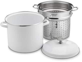 Cuisinart 12-Quart Stockpot Steam Set - 3 Piece Set - White