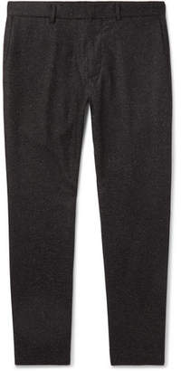 Club Monaco Dark-Grey Tapered Wool-Blend Herringbone Trousers