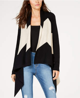 INC International Concepts I.N.C. Asymmetrical Colorblocked Cardigan, Created for Macy's