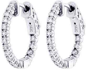 LeVian Suzy Diamonds Suzy 14K 0.75 Ct. Tw. Diamond Hoop Earrings