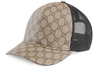 Gucci GG Supreme Baseball Hat $320 thestylecure.com