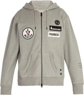 Moncler 7 FRAGMENT Logo-appliqué hooded cotton sweatshirt