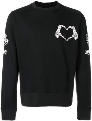 Kokon To Zai skeleton heart print sweatshirt