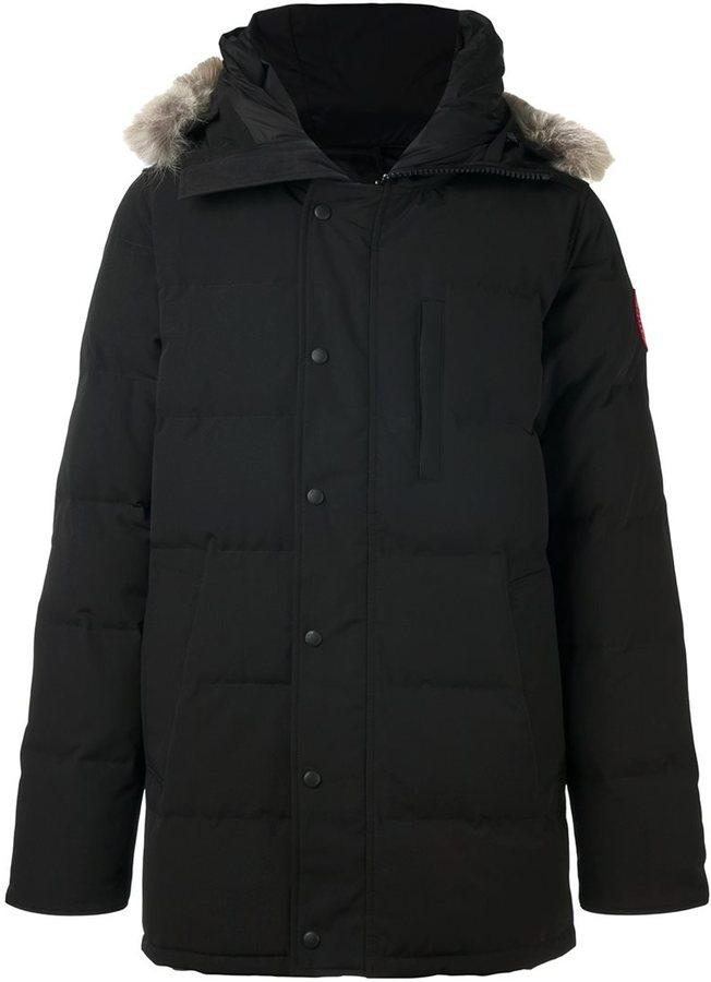 Canada Goose collar detail padded jacket
