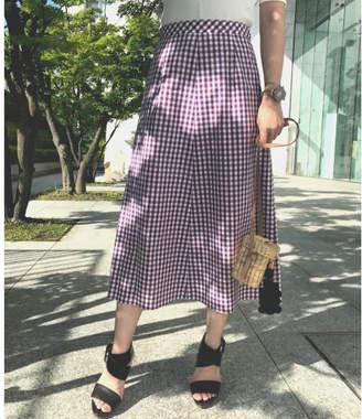 aquagirl (アクアガール) - aquagirl 【洗える】ギンガムチェックミディ丈スカート