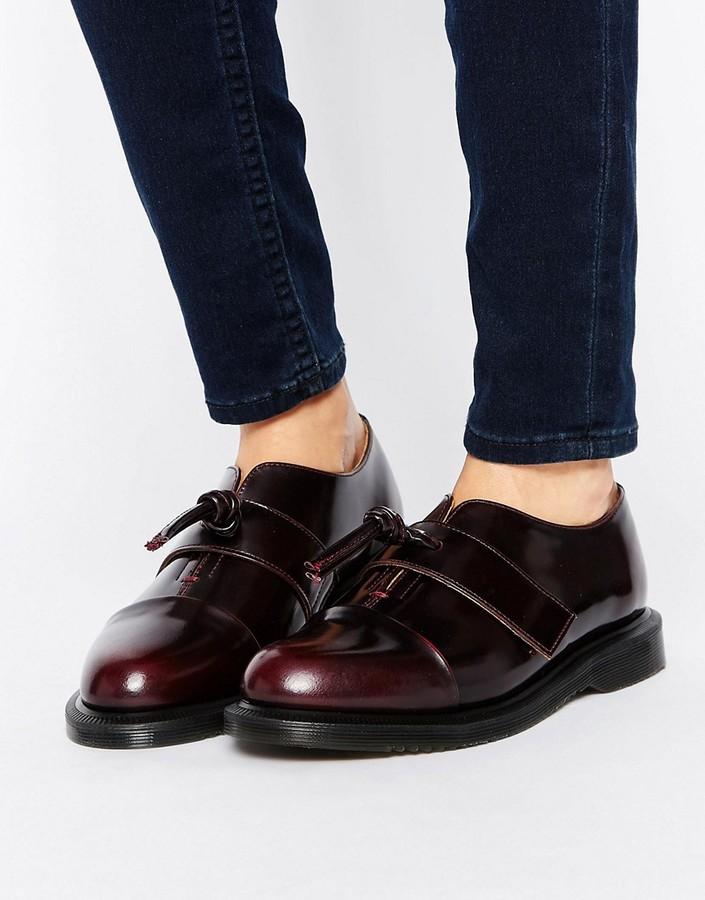 Dr. MartensDr Martens Eliza Knot Leather Flat Shoes