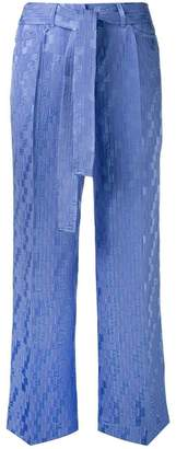Etro wide-leg cropped trousers