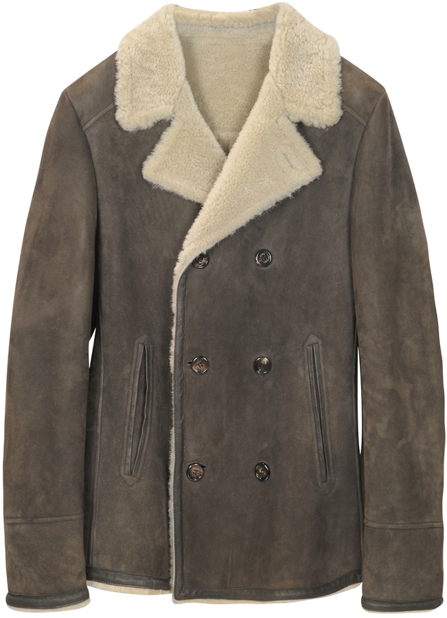 Forzieri Double Breasted Shearling Jacket