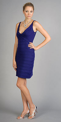 Violet Sleeveless Bandage Dresses by Ali Ro