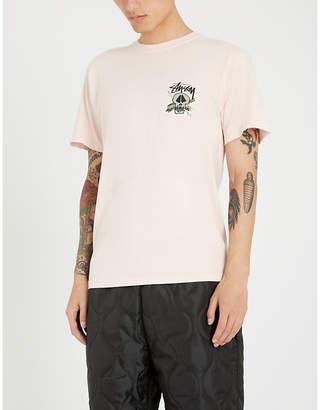 Stussy skull-print cotton-jersey T-shirt