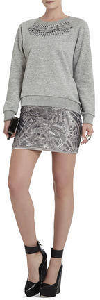 BCBGMAXAZRIA Paxton Deco Sequin-Applique Mini Skirt