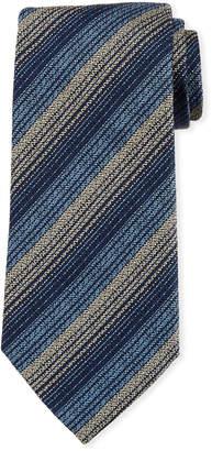 Ermenegildo Zegna Variegated Stripe Silk Tie