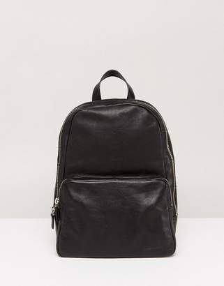 Vagabond Mini Leather Backpack In Black