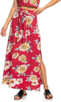 Roxy Island Evasion Floral Print Maxi Skirt