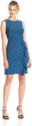 MSK Women's Sleeveless Dress with Drape Detail