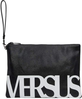Versus Black and White Logo Zip Pouch