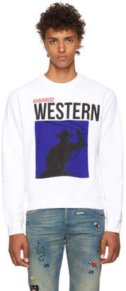 DSQUARED2 White Western Sweatshirt