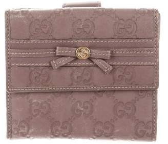 e29435d9a16 Gucci Guccissima French Flap Wallet