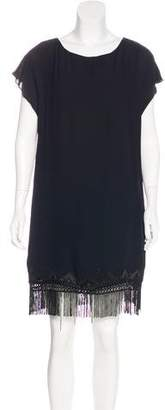 Twelfth Street By Cynthia Vincent Embroidered Crepe Dress w/ Tags