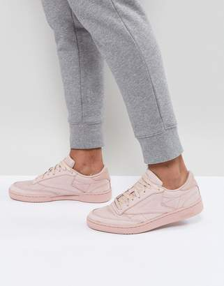 Reebok Club C 85 RS Sneakers In Pink BS7854