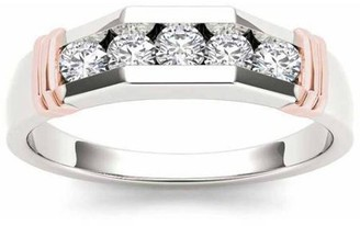 Imperial Diamond Imperial 1/2 Carat T.W. Diamond Pink Two-Tone Men's 14kt White Gold Ring
