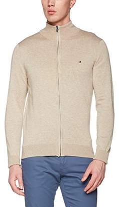 Tommy Hilfiger Men's Cotton Silk Zip Through Sweat Jacket,X-Large
